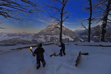 Seelisberg im Winter mit Passepartout entdecken