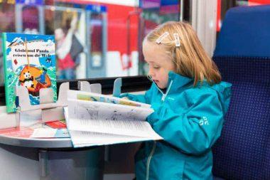 Globi-Express Maedchen mit Buch